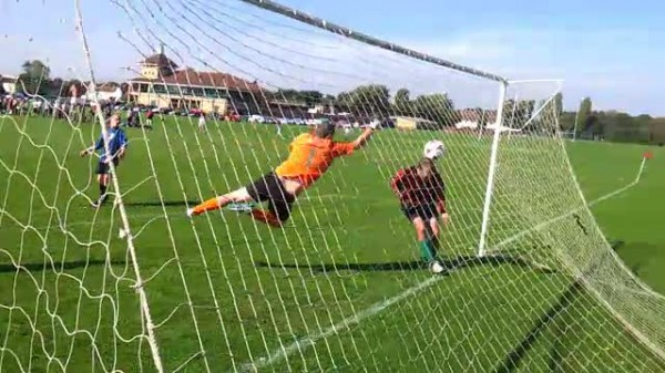 Goal line technology shows the ball had not crossed the line when it was headed in by the off-side Ash.