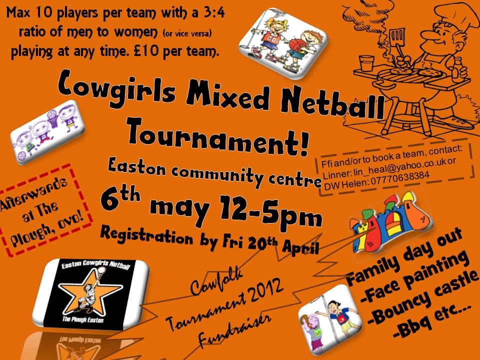 Netball Mixed Tournament this Sunday!
