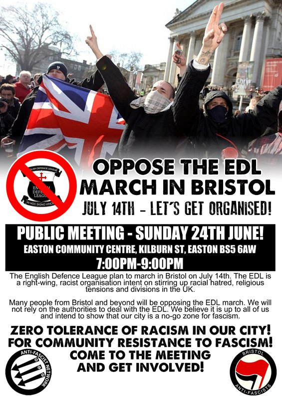 Anti EDL meetin flyer