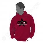Easton Star, Black on Red Hoodie