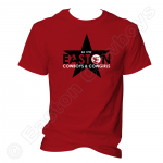 Easton Star, Black onn Red T-Shirt