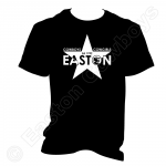 Easton Star, White on Black T-Shirt