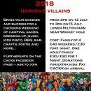 CACKK camp 2018: Heroes and Villains!